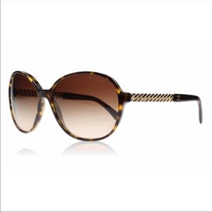 CHANEL Havana Brown Chain Link 5304 Sunglasses